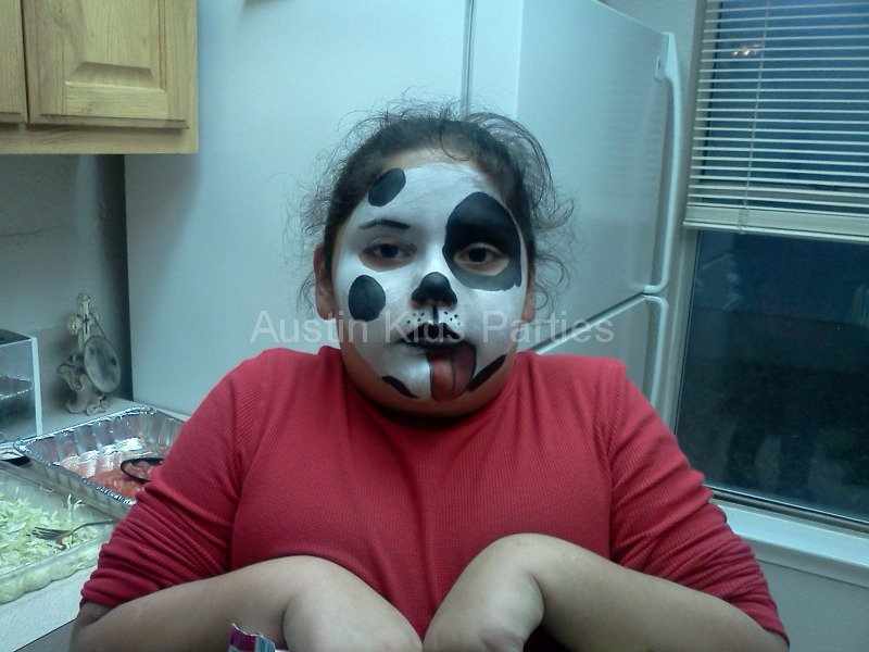 dalmation face painting