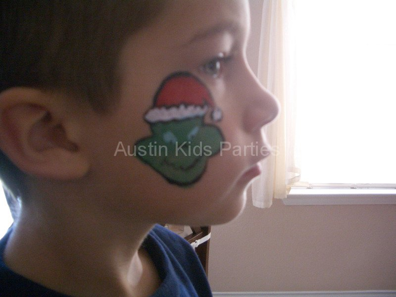 the grinch face painting