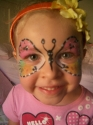 butterfly face face painting