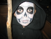 child grim reaper face painting