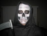 grim reaper face painting