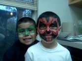 sith lord and green mask face painting
